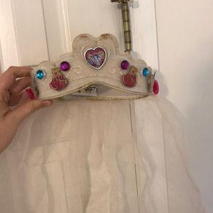 Vintage Disney Velcro Crown w/ 5 Princess Buttons